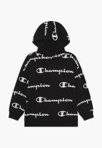 Champion - LEGACY AMERICAN CLASSICS UNISEX - Felpa con cappuccio - black/white - 0