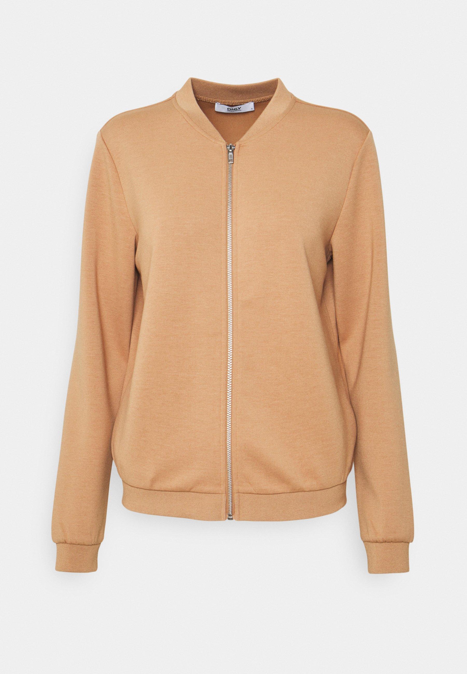 Women ONLSCARLETT ZIP BOMBER JACKET - Zip-up sweatshirt