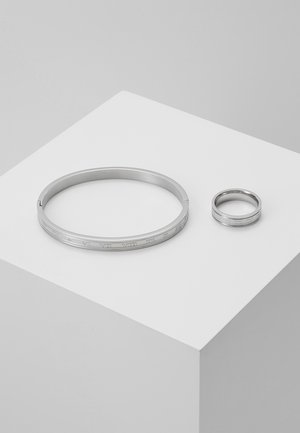 BURTON ROMAN RING AND CUFF SET - Armband - silver-coloured