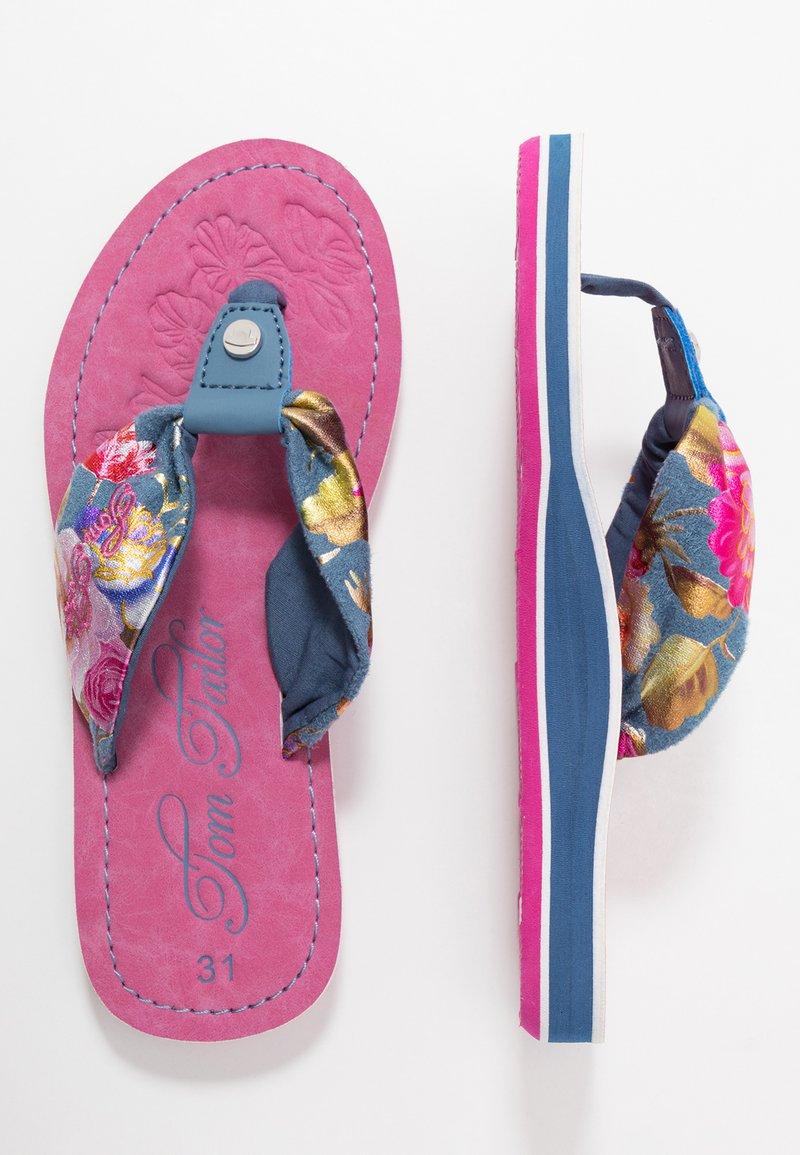 TOM TAILOR - Sandály s odděleným palcem - blue