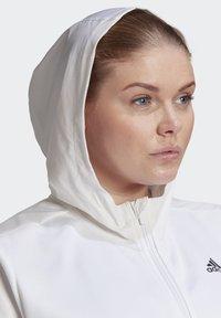 adidas Performance - AEROREADY KNIT JACKET (PLUS SIZE) - Chaqueta de entrenamiento - white - 4
