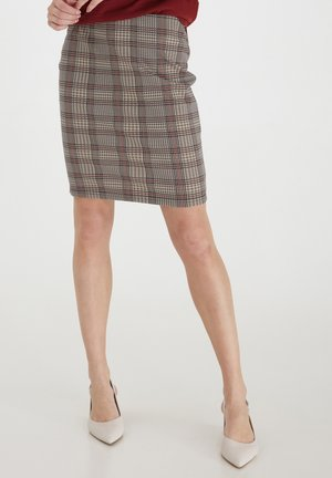 Pencil skirt - barn red mix