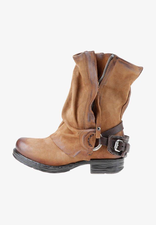 Cowboy-/Bikerlaarsjes - calvados