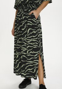Kaffe - Maxi skirt - black  hedge zebra print - 3