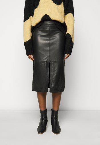 SINEM MIDI SKIRT - Pencil skirt - black