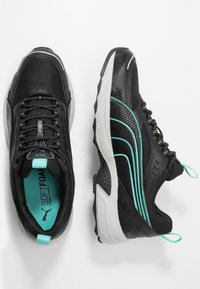 Puma - AXIS - Sneaker low - black/blue turquoise/castlerock/silver/high rise - 1
