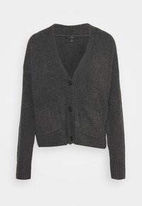 J.CREW - SUPERSOFT CROPPED CARDI - Cardigan - hthr charcoal - 0