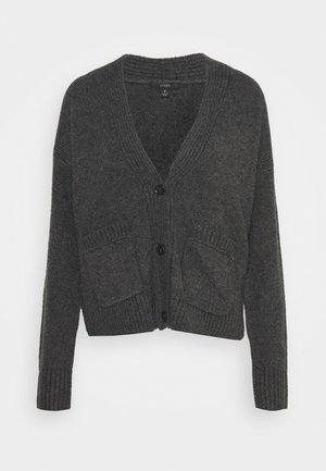 SUPERSOFT CROPPED CARDI - Strickjacke - hthr charcoal