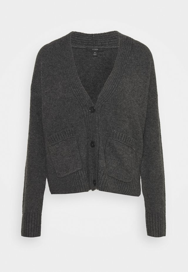 SUPERSOFT CROPPED CARDI - Cardigan - hthr charcoal