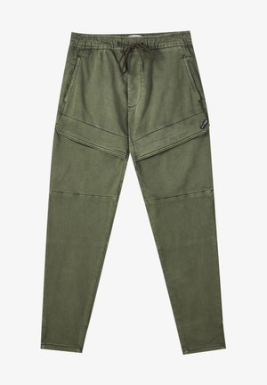 Cargo trousers - mottled green
