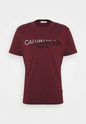 MULTI EMBROIDERY - Print T-shirt - tawny port