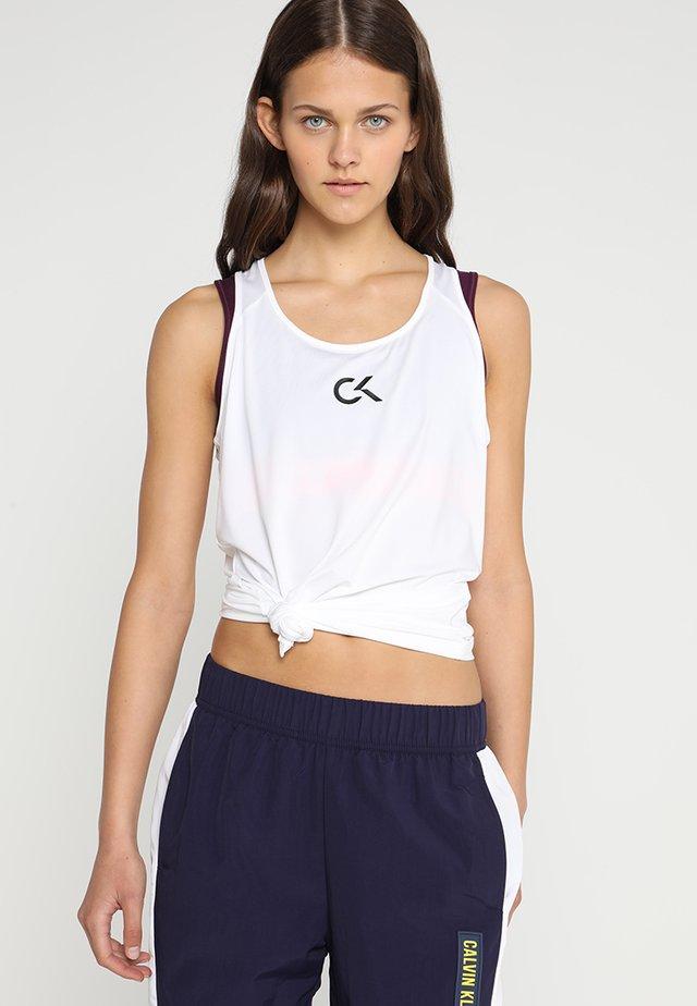 TANK LOGO - T-shirt sportiva - white