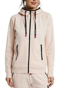 Esprit Sports - KAPUZEN - Zip-up hoodie - peach - 3