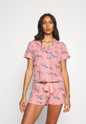 ZEBRA PRINT REVERE & SHORT  - Pyjamas - pink mix