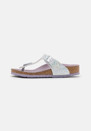 GIZEH KIDS - T-bar sandals - disco ball silver/lavender