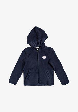 WHITE SHELL - Zip-up hoodie - mood indigo