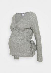 Topshop Maternity - BRUSHED BALLET WRAP - Jumper - grey - 0