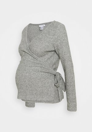 BRUSHED BALLET WRAP - Jumper - grey