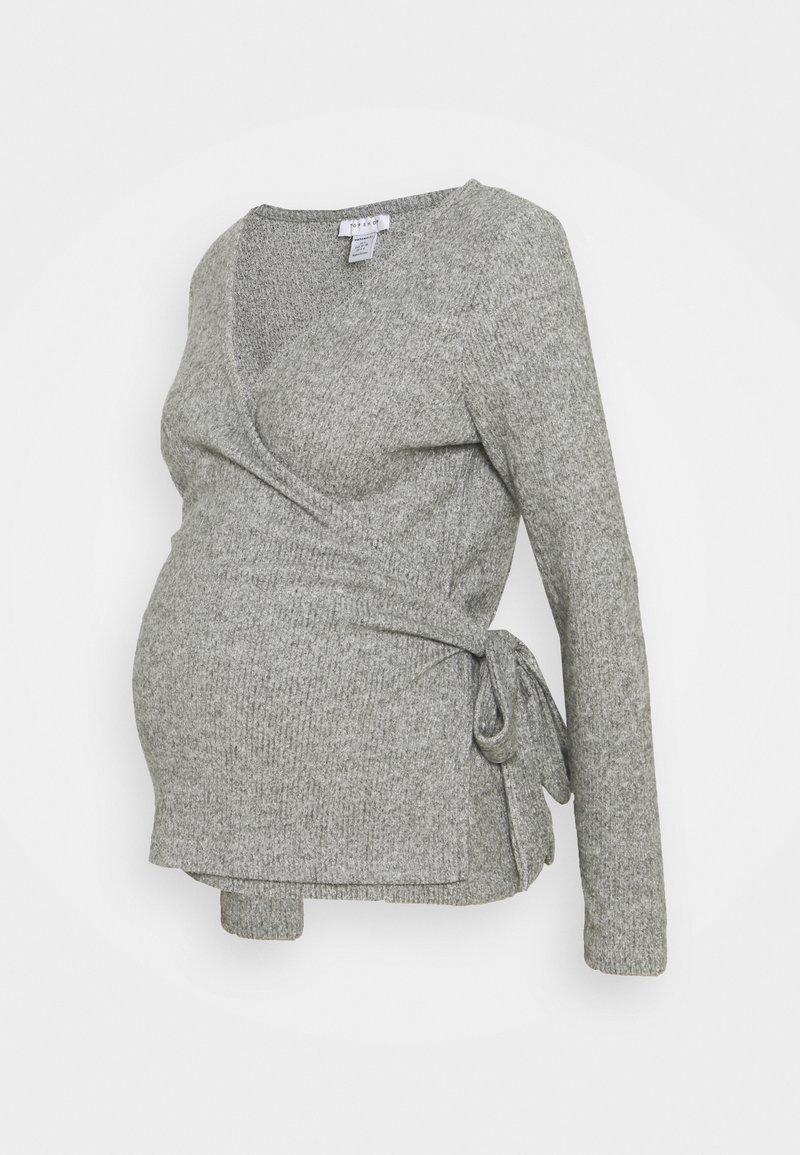 Topshop Maternity - BRUSHED BALLET WRAP - Jumper - grey