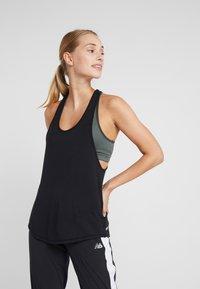 Cotton On Body - TWO IN ONE TANK - Top - black/khaki - 0