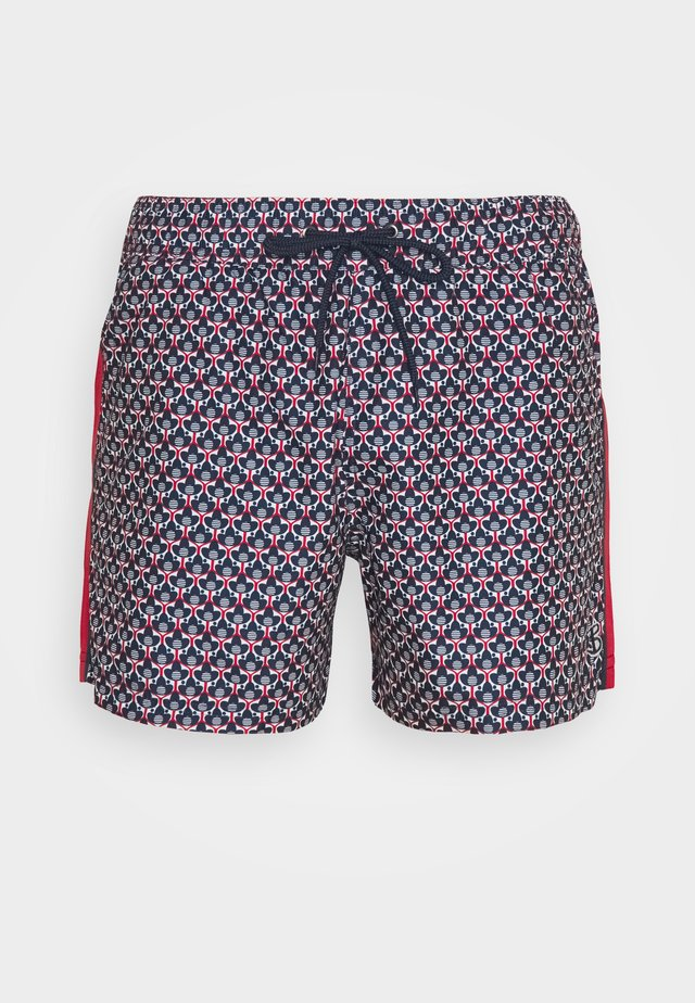 HORSESHOE BAY - Swimming shorts - navy/red