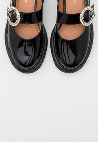 L37 - WISH YOU WOULD - Ankle strap ballet pumps - black - 5