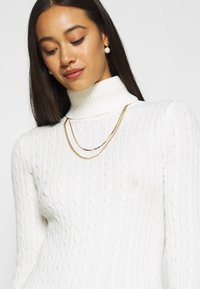 Superdry - CROYDE CABLE ROLL NECK - Jumper - winter white - 5