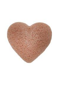 Konjac Sponge - HEART SPONGE - Skincare tool - french pink clay - 1