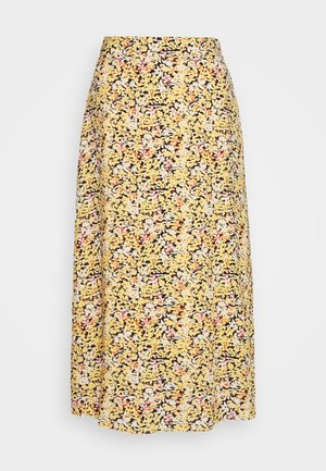 ELASTIC WAIST MIDI SKIRT - A-snit nederdel/ A-formede nederdele -  yellow