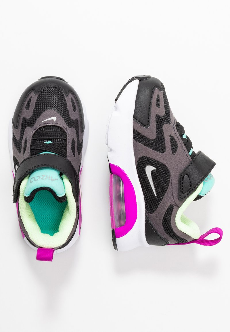 Nike Sportswear - AIR MAX 200 - Trainers - black/metallic silver/thunder grey/aurora green-hyper violet/barely volt