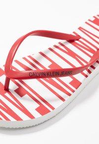 Calvin Klein Jeans - DARALYN - Badesko - white/racing red - 2