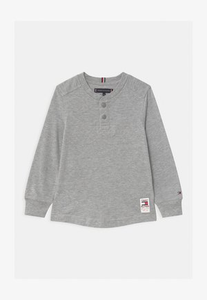 STRUCTURED HENLEY - Long sleeved top - grey