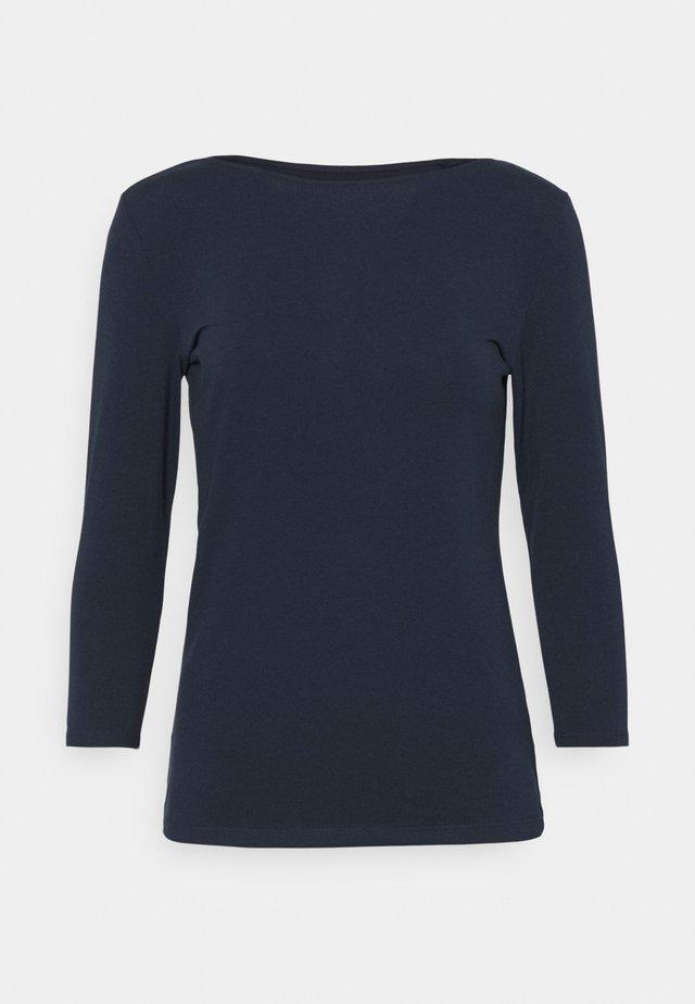 FITTED SLASH - Top sdlouhým rukávem - dark blue