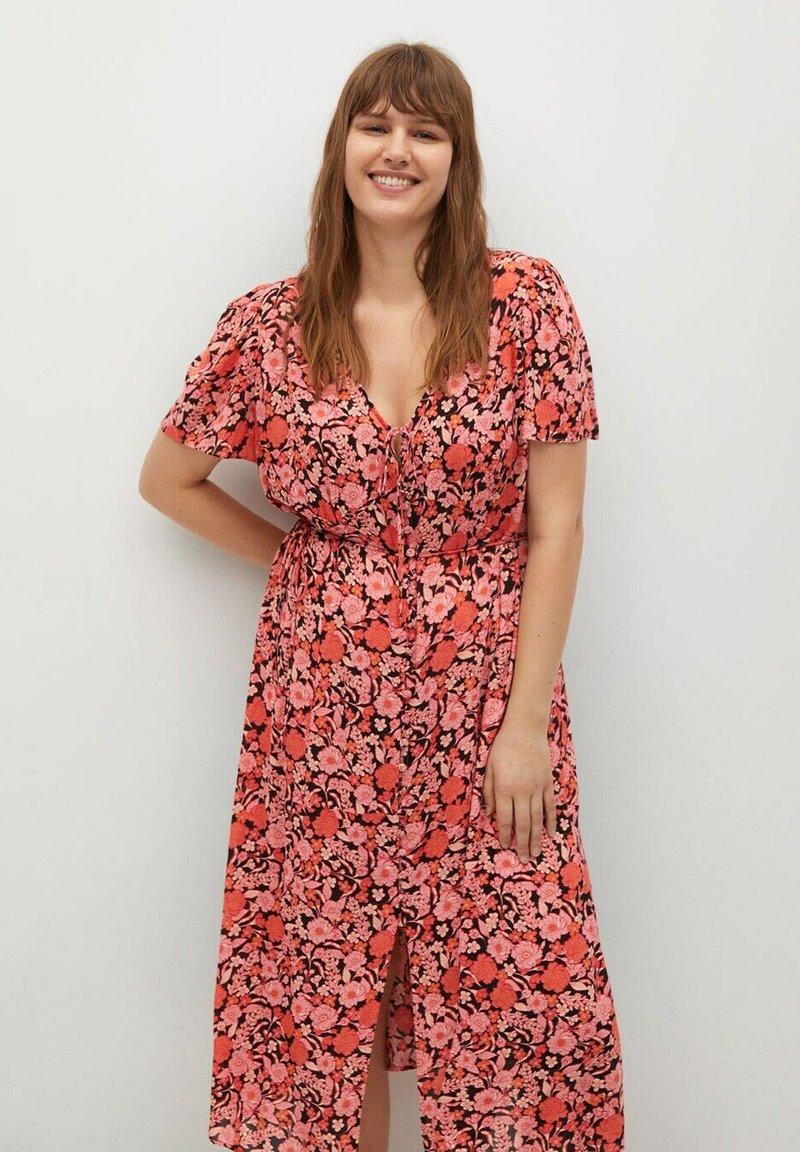 Violeta by Mango - PAPER-I - Day dress - corail