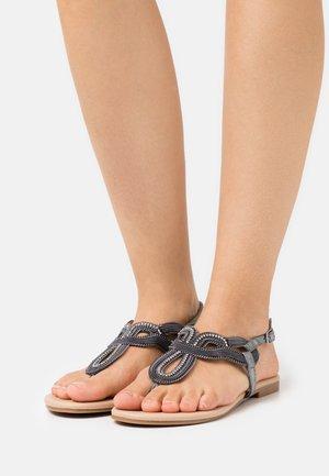Sandály s odděleným palcem - gunmetal