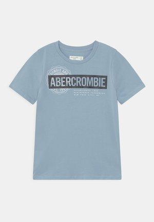 PRINT LOGO  - Print T-shirt - ashley blue