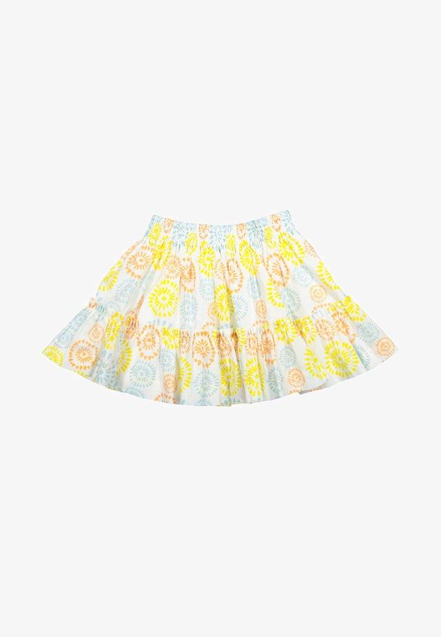 A-lijn rok - white/yellow/blue