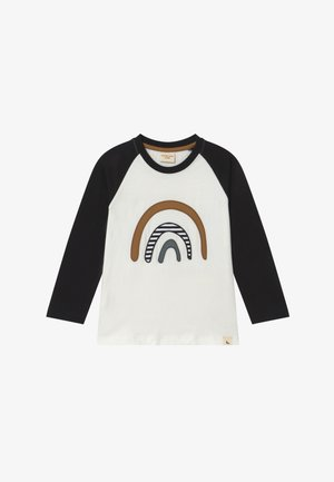 RAGLAN RAINBOW APPLIQUE - Longsleeve - black