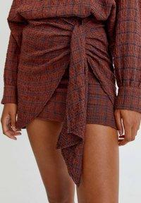 PULL&BEAR - Wrap skirt - orange - 3