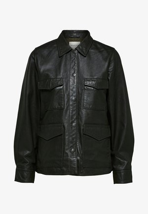 Leather jacket - rosin