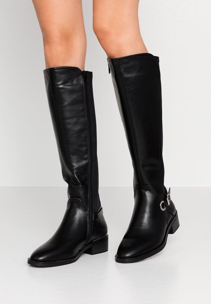 Dorothy Perkins - KIKKA FORMAL RIDING BOOT STRETCH BACK - Boots - black