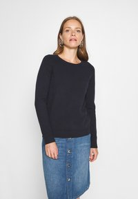 Marc O'Polo - LONGSLEEVE BASIC WITH ROUNDNECK - Jumper - midnight blue - 0