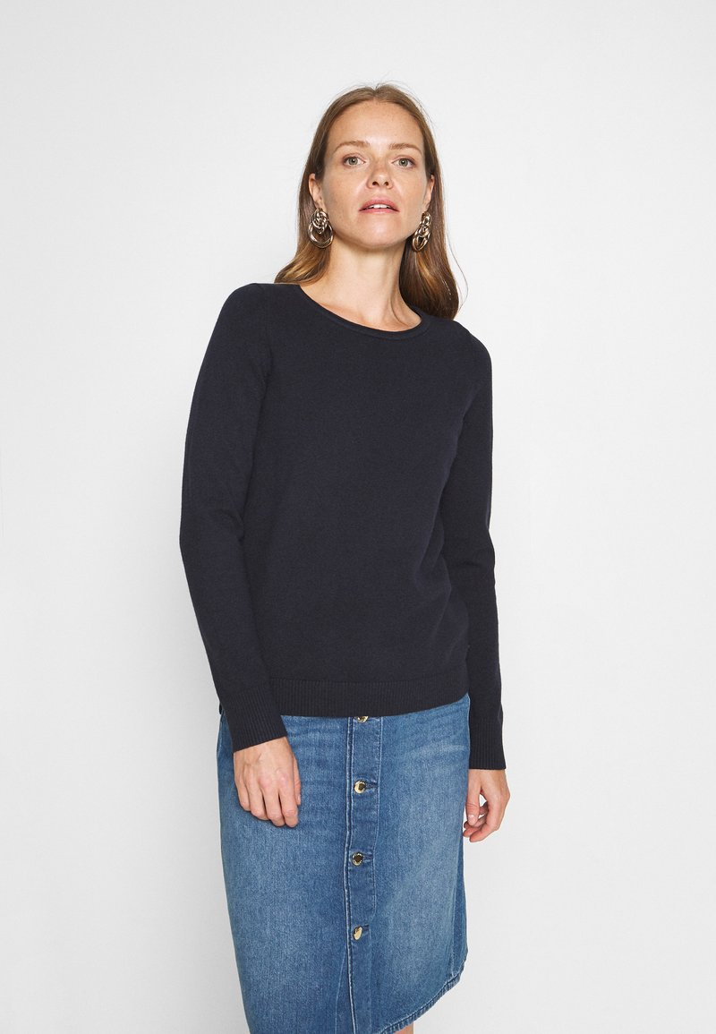Marc O'Polo - LONGSLEEVE BASIC WITH ROUNDNECK - Jumper - midnight blue