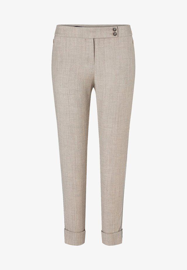 MIT GALONSTREIFEN - Trousers - beige