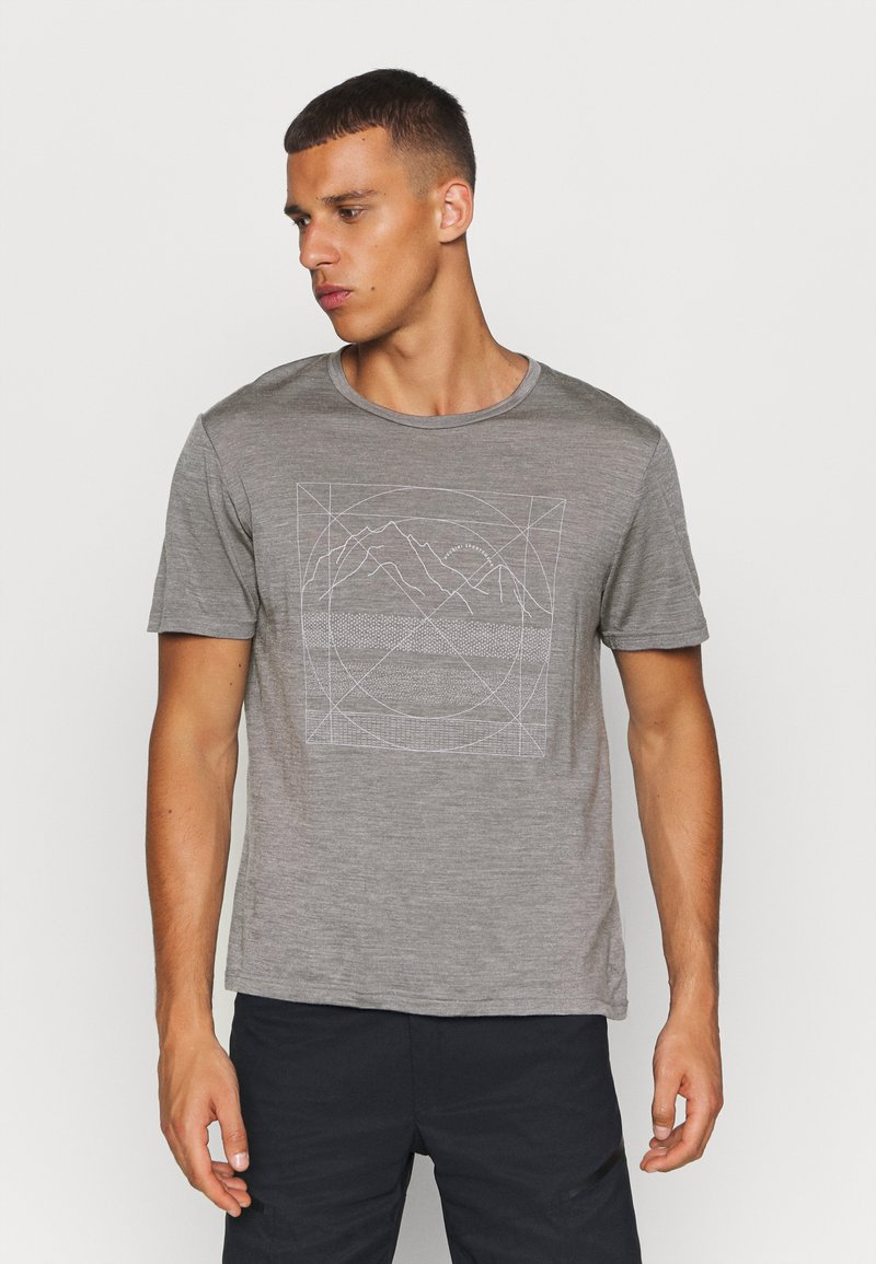 Houdini - ACTIVIST MESSAGE TEE - Print T-shirt - soft grey
