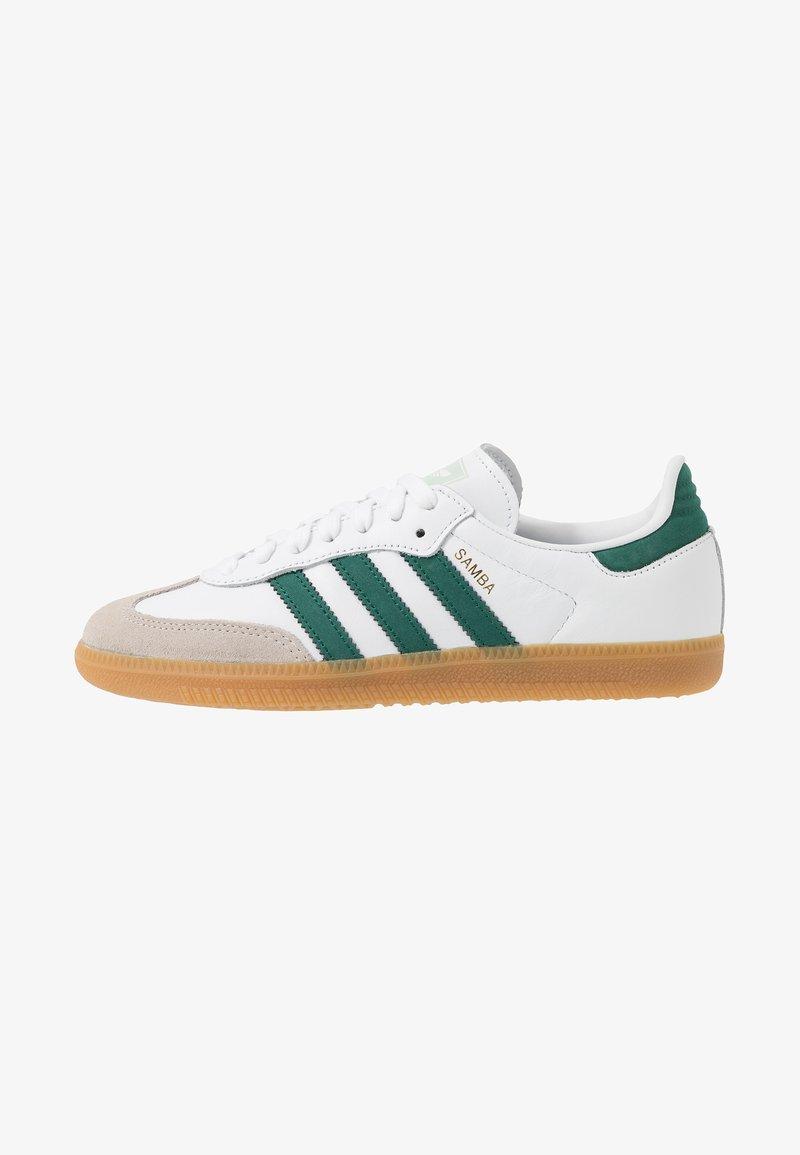 adidas Originals - SAMBA FOOTBALL - Trainers - footwear white/collegiate green/vapour green