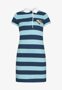 GANT - SUMMER STRIPE RUGGER DRESS - Jersey dress - aqua - 4