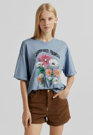 T-shirt con stampa - blue denim