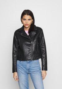 Pepe Jeans - FLORES - Faux leather jacket - black - 0
