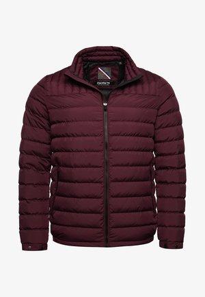 Gewatteerde jas - rich deep burgundy